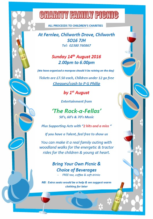 Charity Picnic Flyer 2016